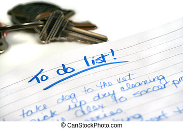 list for things to do during the day (my own writing) focus on to do list