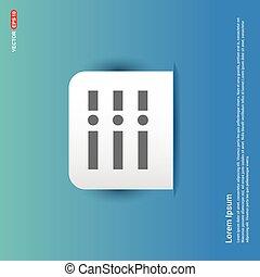 List, menu icon - Blue Sticker button
