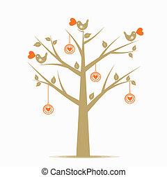 list miłosny, drzewo