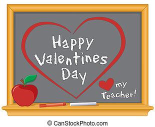 list miłosny, miłość, nauczyciel, mój, szczęśliwy