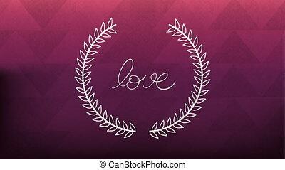 list miłosny, ożywienie, karta, korona, wieniec