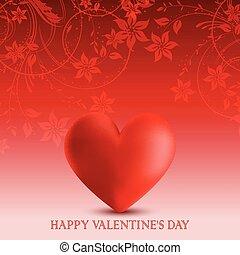 list miłosny, serce, kwiatowy, dzień, projektować, tło