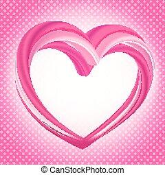 list miłosny, tło, abstrakcyjny, różowy, sercowa forma