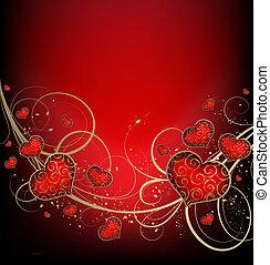 list miłosny, tło