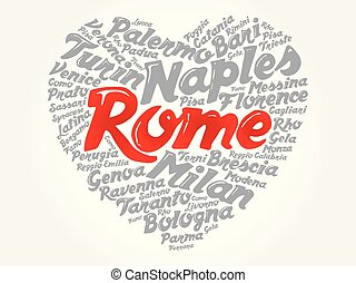 List of cities and towns in Italy, word cloud - List of...