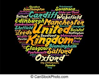 List of cities and towns in the United Kingdom composed in ...