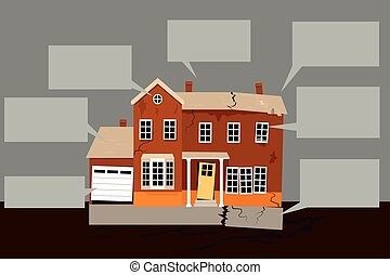 List of home repairs - Exterior of a house in need of...