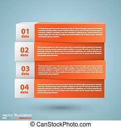List of options art info. Vector illustration
