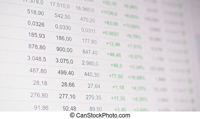 list of realtime quotes, prices changing on Chinese stock ...