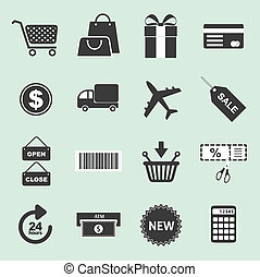 List of shopping icons - Series of icons for shopping use