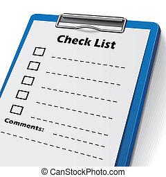 lista, appunti