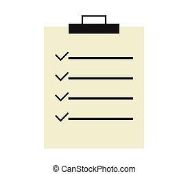 lista conferição