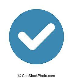 lista de verificação, ícone, cheque, circular, quadro, marca, dentro