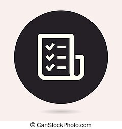 lista de verificação, icon., vetorial, -