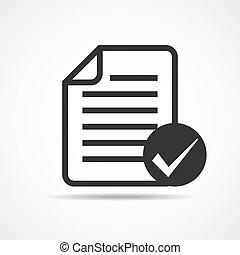 lista de verificação, icon., vetorial, illustration.
