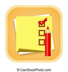 lista de verificación, icono