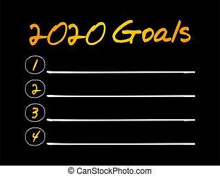 lista, deporte, salud, 2020, empresa / negocio, concepto, ...