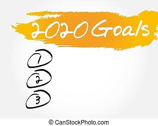 lista, deporte, salud, 2020, empresa / negocio, metas
