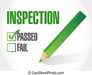 lista, ilustración, diseño, pasado, inspección, cheque