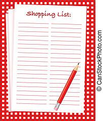 liste achats
