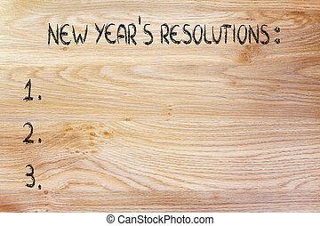 liste, année, buts, nouveau, resolutions, vide