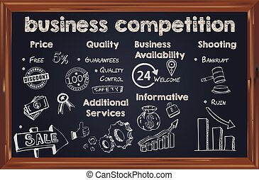 liste, concurrence, business