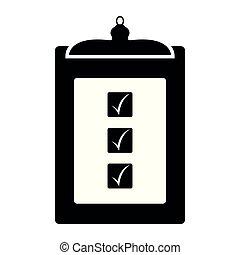 liste contrôle, image, business, icône