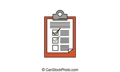liste contrôle, papier, presse-papiers