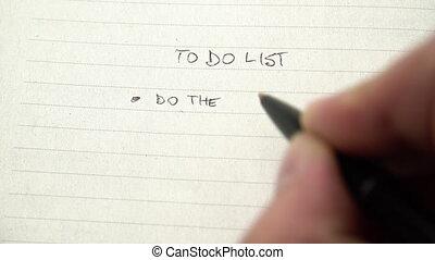 liste, main, humain, corvée, cahier, écriture, liste ...