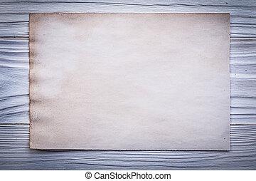 listek, drewniany, rocznik wina, górny, papier deska, czysty, menu, prospekt