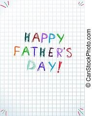 listek, ojcowie, typografia, notatnik, dzień, szczęśliwy