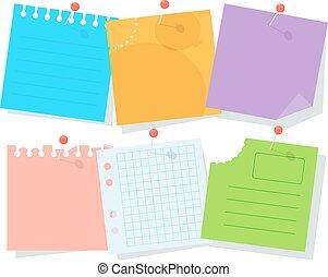 listek, papier, komplet