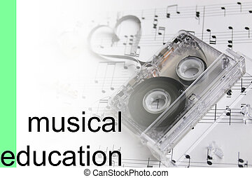 listen courses music notes background