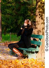 listening music at park