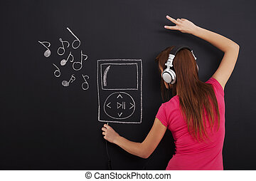 Listening music from Mp3 player