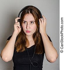 listening to rock music