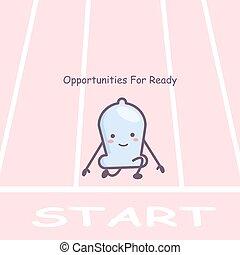 listo, condón, oportunidades