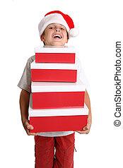 listo, navidad, obteniendo