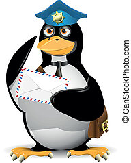 listonosz, pingwin