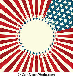 listra, bandeira, estrela
