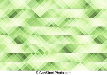 listra verde, geometria, abstratos, fundo