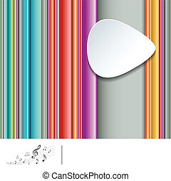 listrado, música, coloridos, fundo