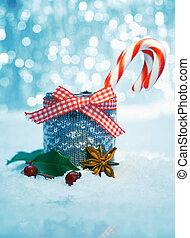 listrado, neve, doce, natal
