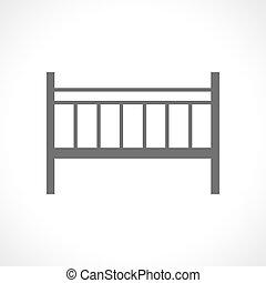 lit camp, isolé, fond, bébé, blanc, icône