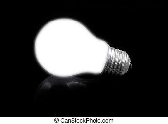 lit, licht, nahaufnahme, schwarz, zwiebel