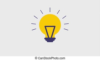 lit lightbulb icons animation design