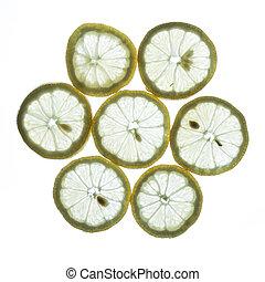 lit, limón, espalda
