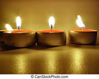 lit tealights #2