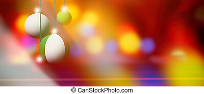 lItaly flag on Christmas ball with blurred and abstract background.