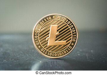 Litecoin coin close up